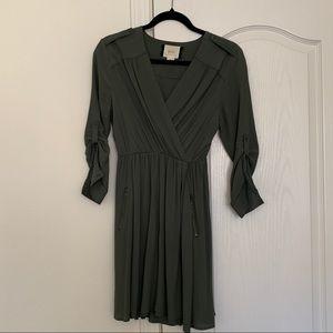 Olive Green Anthropology Dress